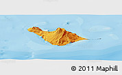 Political Shades Panoramic Map of Heard Island and McDonald Islands