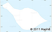 Silver Style Simple Map of Heard Island and McDonald Islands