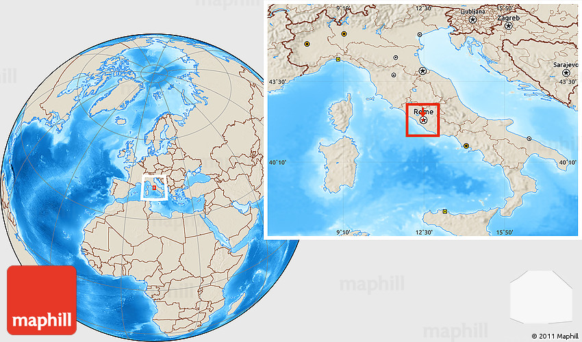 Flag location map of holy see vatican city shaded relief outside gumiabroncs Image collections