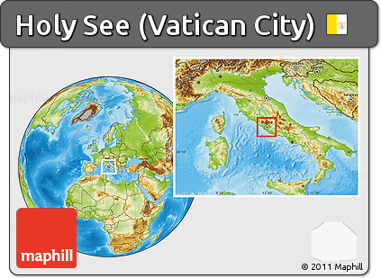 Physical Location Map Of Holy See Vatican City Within The Vatican - What is the latitude and longitude of antarctica