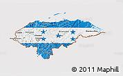 Flag 3D Map of Honduras