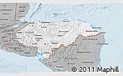 Gray 3D Map of Honduras