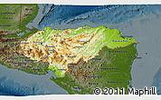 Physical 3D Map of Honduras, darken