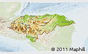 Physical 3D Map of Honduras, lighten