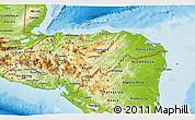 Physical 3D Map of Honduras