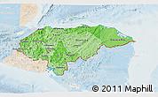 Political Shades 3D Map of Honduras, lighten