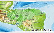 Political Shades 3D Map of Honduras, physical outside