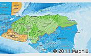 Political Shades 3D Map of Honduras