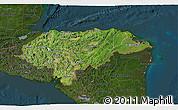 Satellite 3D Map of Honduras, darken