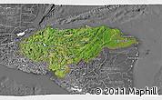 Satellite 3D Map of Honduras, desaturated