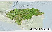 Satellite 3D Map of Honduras, lighten
