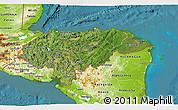 Satellite 3D Map of Honduras, physical outside, satellite sea