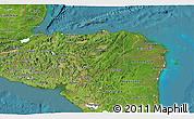 Satellite 3D Map of Honduras