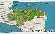 Satellite 3D Map of Honduras, shaded relief outside, satellite sea