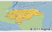 Savanna Style 3D Map of Honduras, single color outside