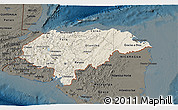 Shaded Relief 3D Map of Honduras, darken