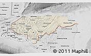 Shaded Relief 3D Map of Honduras, desaturated