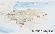 Shaded Relief 3D Map of Honduras, lighten