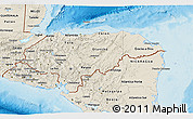 Shaded Relief 3D Map of Honduras