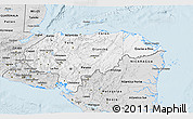 Silver Style 3D Map of Honduras