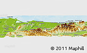Physical Panoramic Map of Atlantida