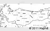 Blank Simple Map of Atlantida