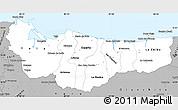 Gray Simple Map of Atlantida