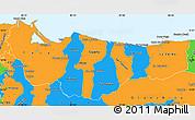 Political Simple Map of Atlantida