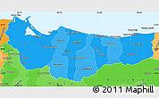 Political Shades Simple Map of Atlantida