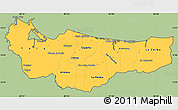 Savanna Style Simple Map of Atlantida, cropped outside