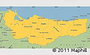 Savanna Style Simple Map of Atlantida