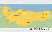 Savanna Style Simple Map of Atlantida, single color outside