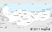 Silver Style Simple Map of Atlantida