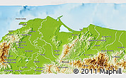 Physical 3D Map of Tela
