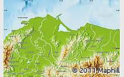 Physical Map of Tela
