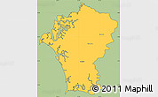 Savanna Style Simple Map of Marcovia, cropped outside