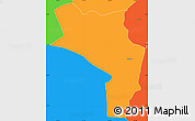 Political Simple Map of Orocuina