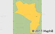 Savanna Style Simple Map of Orocuina, single color outside
