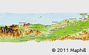 Physical Panoramic Map of Balfate