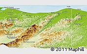 Physical Panoramic Map of Iriona