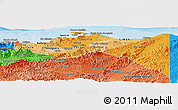 Political Shades Panoramic Map of Colon