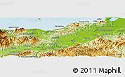 Physical Panoramic Map of Sonaguera