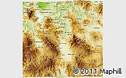 Physical 3D Map of Comayagua