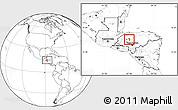 Blank Location Map of La Libertad