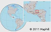 Gray Location Map of La Libertad