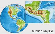Physical Location Map of La Libertad