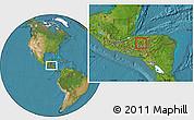 Satellite Location Map of La Libertad