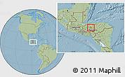 Savanna Style Location Map of La Libertad, hill shading