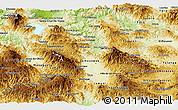 Physical Panoramic Map of Comayagua