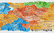 Political Shades Panoramic Map of Comayagua